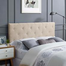 View Product - Terisa King Upholstered Fabric Headboard in Beige