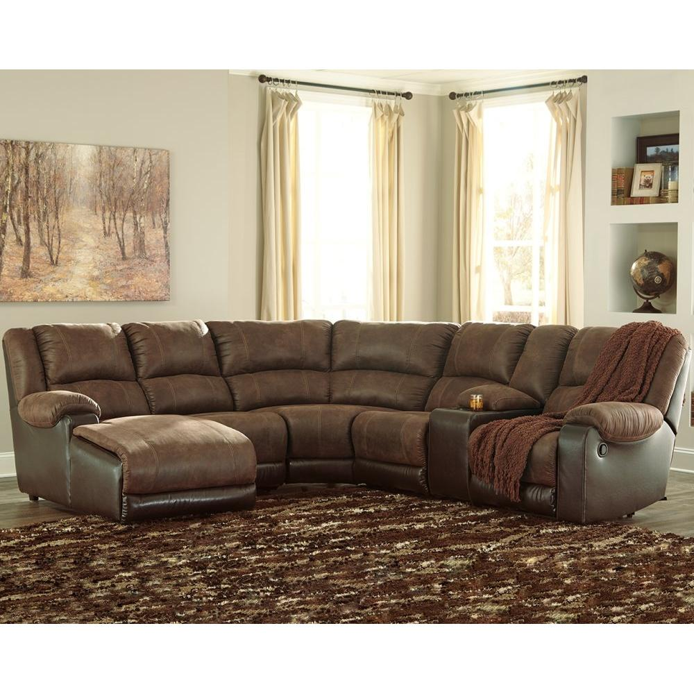 Signature Design By Ashley - Nantahala 6-piece Reclining Sectional With Chaise