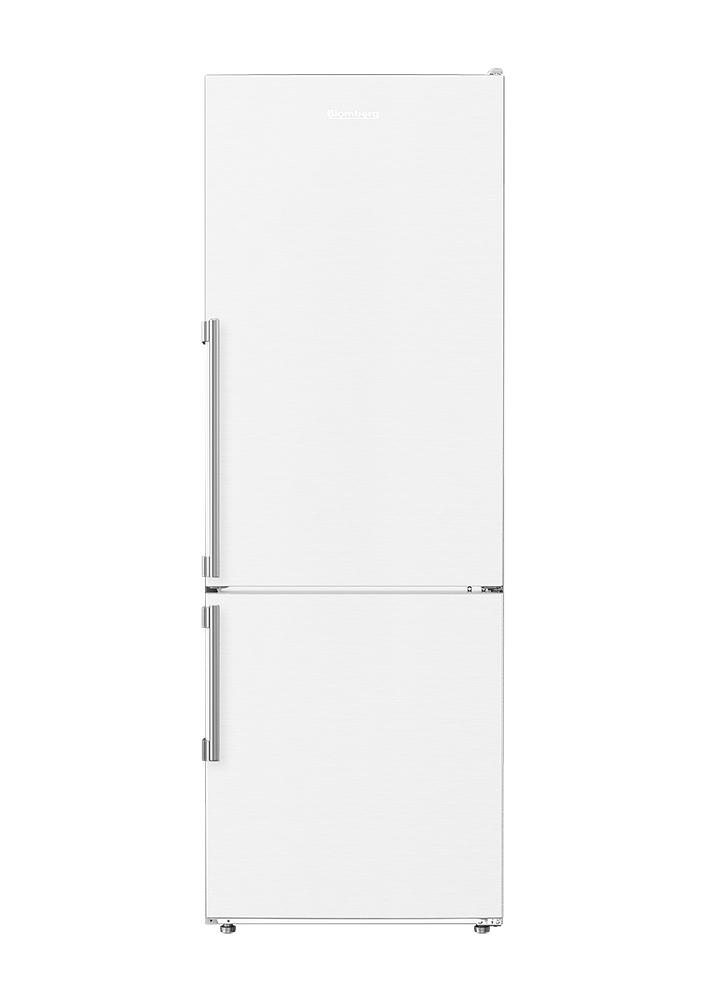 Blomberg Appliances24in 12 Cuft Bottom Freezer Fridge With Full Frost Free, White
