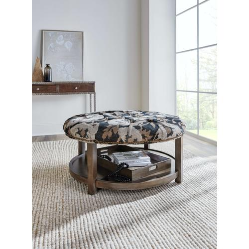 Gallery - Living Room Harlow Round Tufted Ottoman