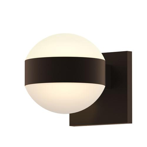 Sonneman - A Way of Light - REALS® Up/Down LED Sconce [Color/Finish=Textured Bronze, Lens Type=Dome Lenses]