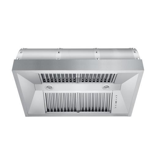 """Zline Kitchen and Bath - ZLINE 36"""" Designer Series Under Cabinet Range Hood in DuraSnow® Stainless Steel (436-SX44S-36)"""