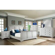 Cameron White Sleigh Bedroom