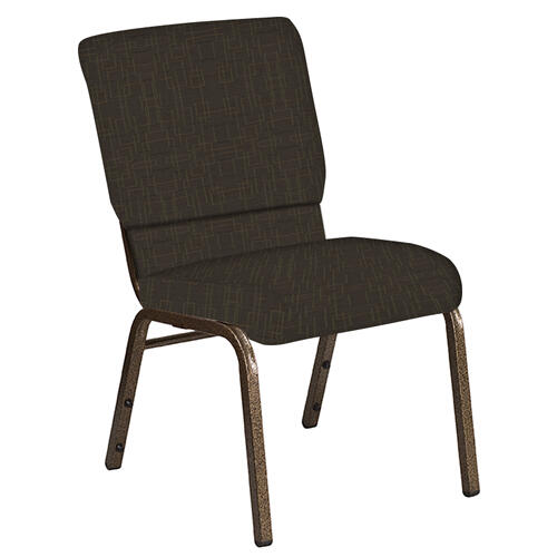 Flash Furniture - 18.5''W Church Chair in Amaze Mint Chocolate Fabric - Gold Vein Frame