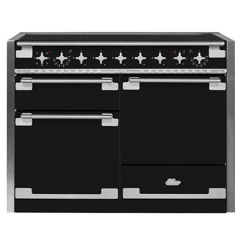 AGAAga Elise 48 Induction Matte Black With Chrome Trim