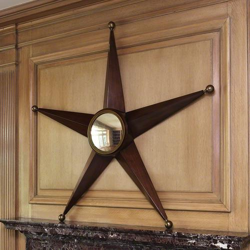 Five Point Star Mirror-Walnut
