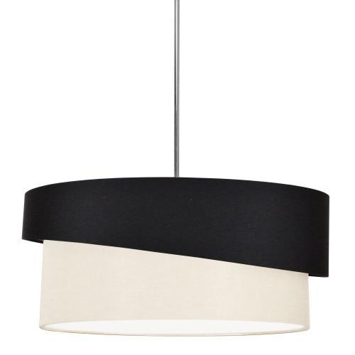 Product Image - 3lt Jazlynn Pendant, Black/cream Shade W/ 790 Diff