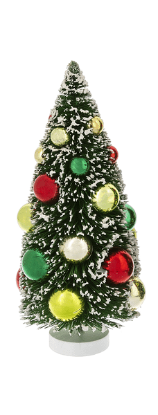Bottle Brushed Christmas Tree Figurine - Sm.