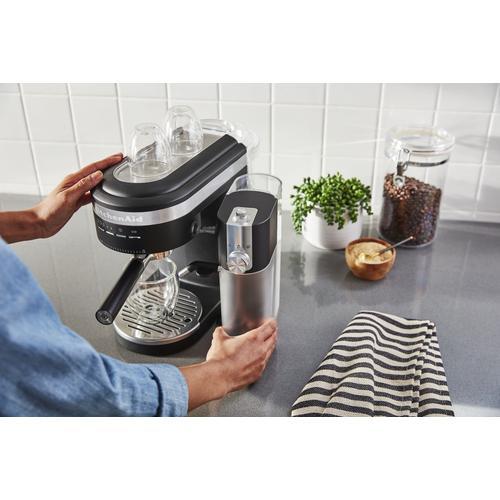KitchenAid - Semi-Automatic Espresso Machine and Automatic Milk Frother Attachment - Black Matte