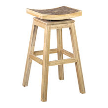 See Details - Cordova Barstool with Grey Coconut Accent