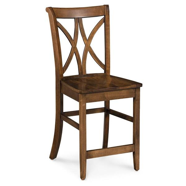 """See Details - Hanna Stationary Barstool, 30"""" Seat Height / Fabric Cushion Seat"""