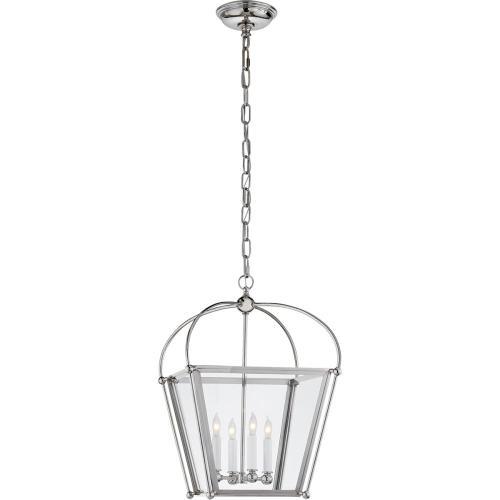 Visual Comfort CHC3438PN-CG E. F. Chapman Plantation 4 Light 14 inch Polished Nickel Foyer Lantern Ceiling Light, E.F. Chapman, Small, Clear Glass