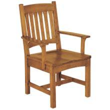 View Product - Arm Chair, Oak Cottage Arm Chair