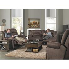 Power Reclining Console Loveseat w/Stor & Cuphol - Sable