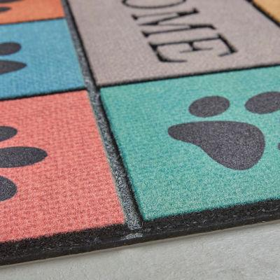 Mohawk - Welcome In Tiles, Paw Blocks- Rectangle