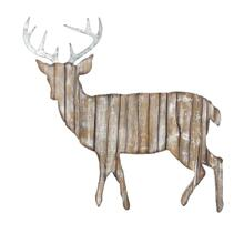 Product Image - Deer Cut Out Rustic Wall Hanging