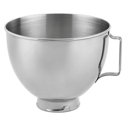 4.5 Qt/ 4.28 L Brushed Stainless Steel Bowl