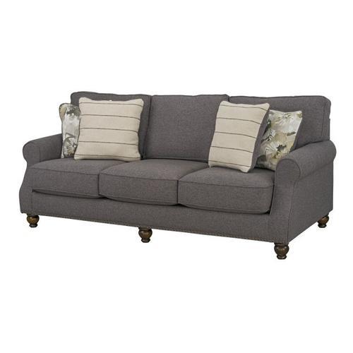 Angelina Upholstered Sofa, Charcoal