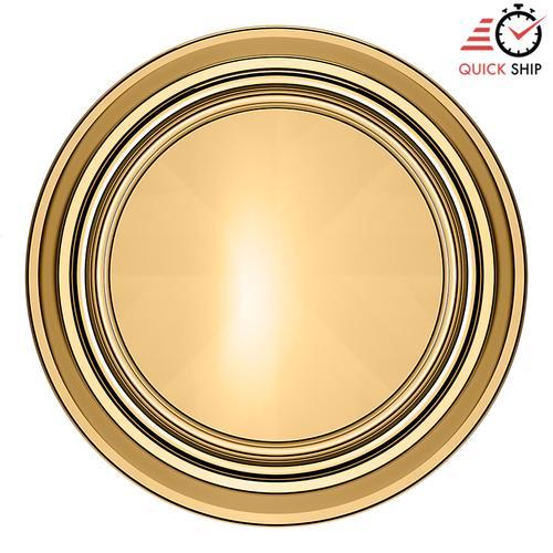 Baldwin - Non-Lacquered Brass 5068 Estate Knob with 5070 Rose