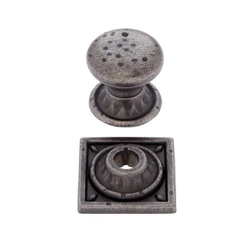 """Aged Iron 1-3/8"""" Pompeii Mushroom Knob"""
