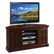 "Bella Maison Two Door 52"" Corner TV Console with Open Component Bay #81585 Product Image"