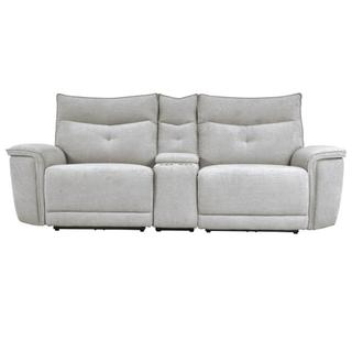 See Details - Tesoro Reclining Love Seat w/ Center Console and Power Headrests