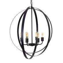 6 Light Chandelier in Matte Black Finish