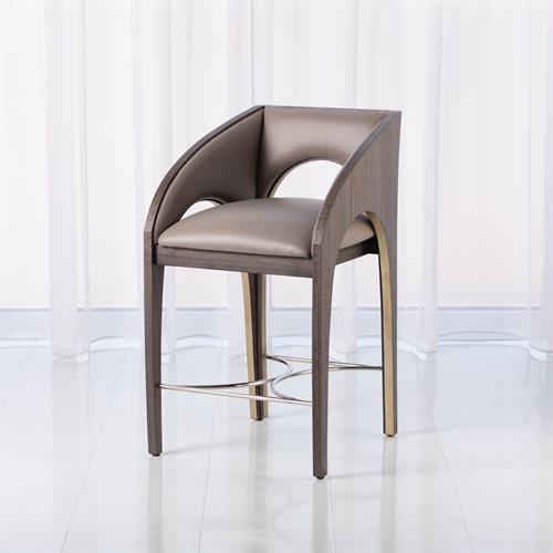 Arches Counter Stool-Grey Leather
