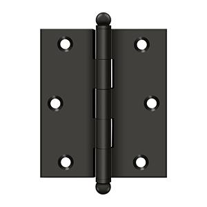 """Deltana - 3"""" x 2-1/2"""" Hinge, w/ Ball Tips - Oil-rubbed Bronze"""