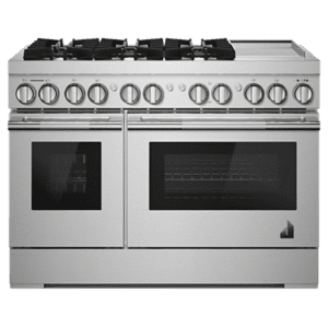 "Jenn-AirRISE 48"" Dual-Fuel Professional-Style Range with Chrome-Infused Griddle and Steam Assist"
