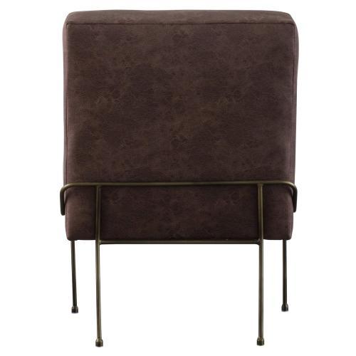 James Fabric Chair, Devore Brown