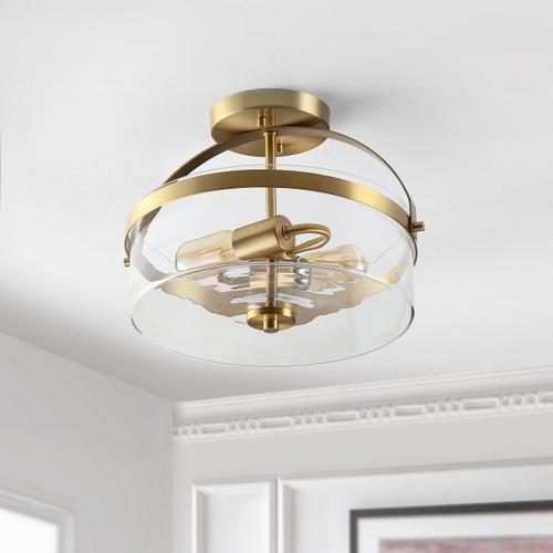 Nensor Flush Mount - Brass Gold / Clear