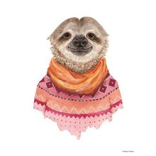 Framed - Sloth In A Sweater By Rachel Nieman