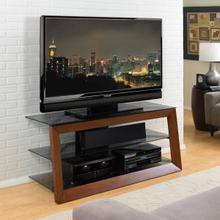 AVSC2151 Solid Wood Framed Caramel Finish A/V Furniture fits most TVs up to 55 inches from Bell'O International Corp.