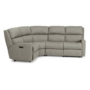 California Fabric Power Reclining Sectional with Power Headrests