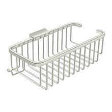 "Wire Basket 10-3/8"", Deep, Rectangular with Hook - Polished Nickel"