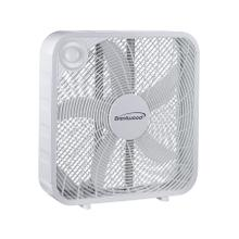 """See Details - Brentwood F-20SW 3-Speed 20"""" Box Fan, White"""