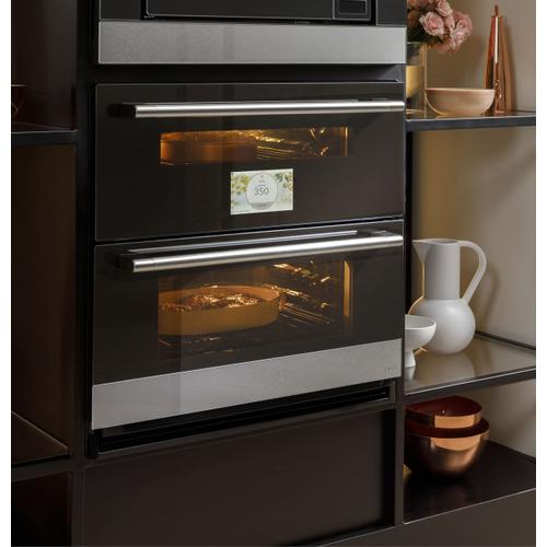 "Café 30"" Smart Built-In Twin Flex Single Wall Oven in Platinum Glass"