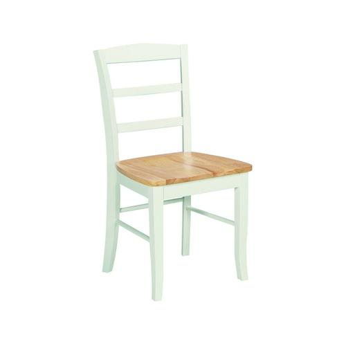 Madrid Chair in White & Natural