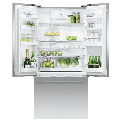"""Fisher & Paykel - Freestanding French Door Refrigerator Freezer, 32"""", 17 cu ft, Ice & Water"""