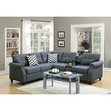 Kagiso Modular 2pc Sectional Sofa Set, Blue-grey
