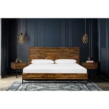 Cusco 3 Piece Acacia Queen Bed and Nightstands Bedroom Set