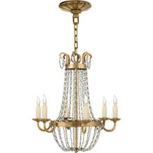 Visual Comfort CHC1407GI-SG E F Chapman Paris Flea Market 6 Light 16 inch Gilded Iron Chandelier Ceiling Light