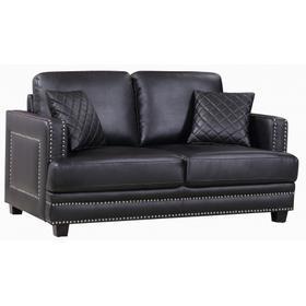 "Ferrara Leather Loveseat - 62"" W x 35"" D x 34"" H"