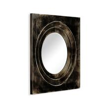 Black Framed Round Mirror