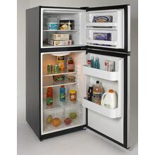 Model FF99D2P - 9.9 Cu. Ft. Frost Free Refrigerator - Black w/Platinum Finish Doors