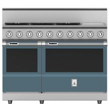 "48"" 5-Burner Dual Fuel Range with 12"" Griddle - KRD Series - Pacific-fog"