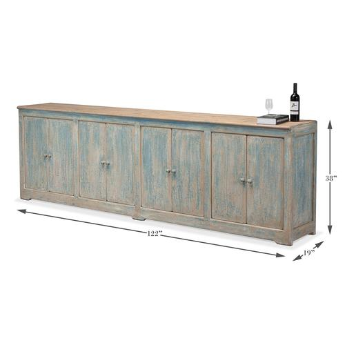 Eight Is Enough Sideboard, Antique Blue