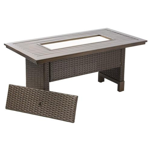 La Lima Relaxed Dining Table w/ bev. cooler insert