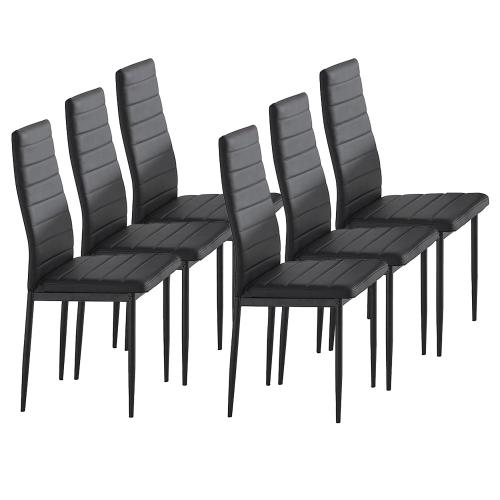 Contra Side Chair, set of 6 in Black